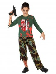 Zombie Soldat - Kostüm für Kinder