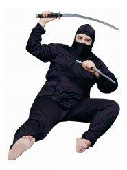 Kämpferisches Ninja-Kostüm für Herren schwarz