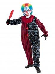 Verrückter Zombie-Clown Halloween-Kostüm für Herren bunt