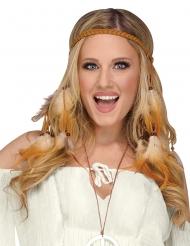 Hippie-Haarband 60er-Jahre Kostümzubehör braun-beige