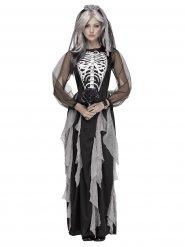 Kostüm Brautkleid Skelett für Damen