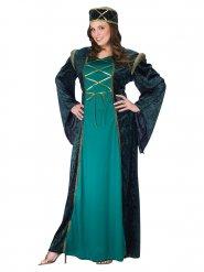Mittelalter Prinzessinnen Kostüm für Damen grün
