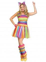 Piñata Damenkostüm bunt