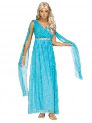 Antike-Göttin Damenkostüm blau