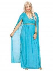 Römische Göttin Damenkostüm Plus Size blau