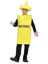 Humorvolles Senf-Kostüm für Erwachsene gelb-schwarz