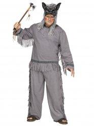 Indianer Werwolf Herrenkostüm grau