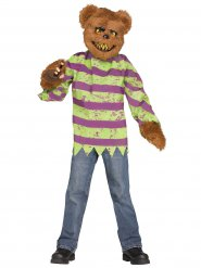 Psycho-Teddy Halloween-Kostüm Killer braun