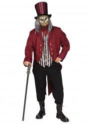 Geheimnisvoller Zirkusdirektor Kostüm für Herren schwarz-rot