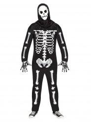Gruseliges Skelett Halloween-Kostüm Overall schwarz-weiss