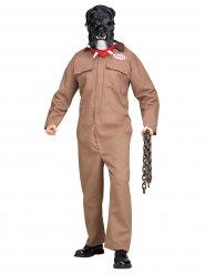 Gefährlicher Hund Halloween Kostüm für Herren beige-schwarz