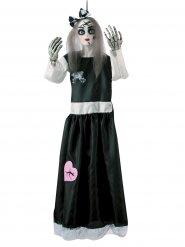 Gruselige Porzellan-Puppe Raumdekoration Halloween bunt 91cm
