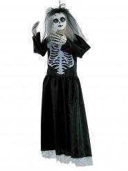 Puppen-Skelett Halloween-Dekoration 91cm schwarz