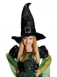 Magischer-Hexenhut für Kinder Zauberin schwarz