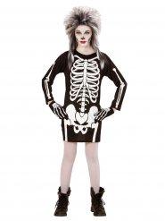 Gruseliges Skelett-Mädchen Kostüm