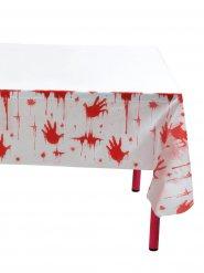 Blutige Tischdecke Halloween-Deko rot-weiß
