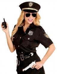 Polizei-Kostüm für Damen schwarz