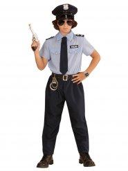 Polizei-Kinderkostüm blau-schwarz