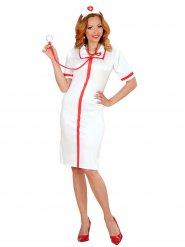 Sexy Krankenschwesterkostüm rot weiß