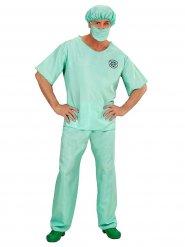 Chirurg-Arzt Kostüm für Herren grün