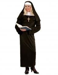 Religiöses Damenkostüm schwarz-weiss