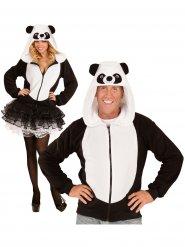 Panda-Kapuzen-Jacke Kostümzuebhör schwarz-weiss