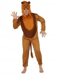 Tierkostüm Löwe für Erwachsene braun