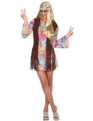 Sexy Hippie Damenkostüm bunt