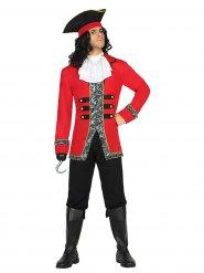 Edelmann Piratenkostüm schwarz-rot