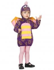 Süsser Drache Kinderkostüm Tier-Verkleidung lila