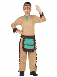 Indianer Kostüm für Kinder braun