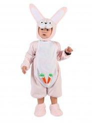 Hasenkostüm für Babys in Rosa-Weiß