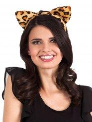 Haarreif mit Leoparden Ohren für Damen