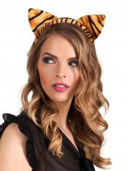 Tigerohren Haarreif für Damen orange