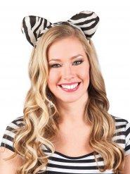 Haarreif mit Zebra Ohren für Erwachsene