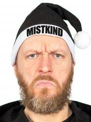 MISTKIND-Weihnachtsmütze Anti Weihnachten Kopfbedeckung schwarz-weiss