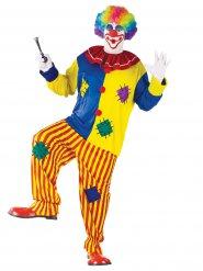 Clown-Kostüm für Herren bunt
