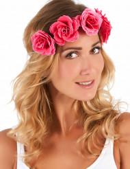 Blumenkranz für Damen pink