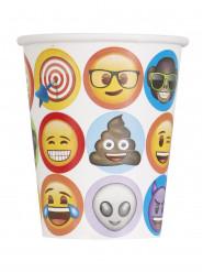 8 Papp Trinkbecher Emoji™ 270 ml
