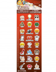 24 Emoji™ Sticker mit Untertitel selbstklebend
