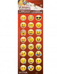 24 selbstklebende Sticker Emoji™