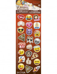 24 witzige Emoji™ Sticker selbstklebend 2,5 cm
