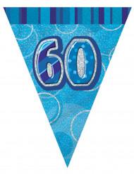 blaue Girlande 60 Jahre 2,74 m