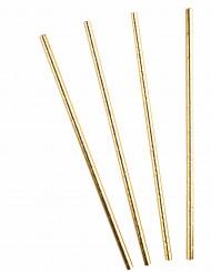 10 Papp-Strohhalme in Goldmetallic