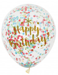 Happy Birthday Luftballons 6 stück