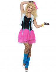 80er Jahre Kostüm in Neonfarben für Damen