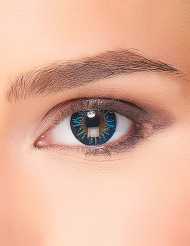 Kontaktlinsen Fantasie blue fire für Erwachsene