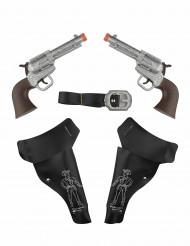 2 Pistolen Wilder Westen für Kinder