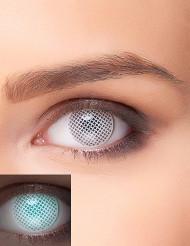 Kontaktlinsen UV-Gitter weiß für Erwachsene