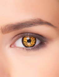 Gruselige Monster-Kontaktlinsen orange-schwarz